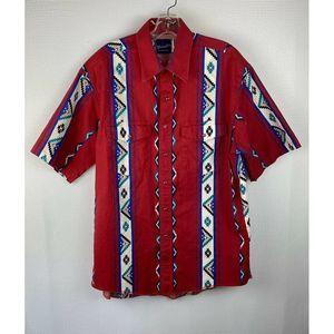 Wrangler Western Shirt Snap Front Aztec